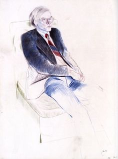 andy warhol by david hockney : アンディ・ウォーホル by デイヴィッド・ホックニー David Hockney Portraits, David Hockney Art, Andy Warhol, Life Drawing, Figure Drawing, Painting & Drawing, Encaustic Painting, Kunst Online, Online Art