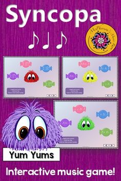 Rhythm Game! Your elementary music students are going to love this interactive game. Perfect for aurally identifying rhythm patterns (syncopa). Get ready for the giggles!
