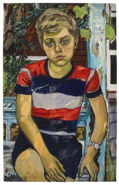 Alice Neel  Hartley  1952  Oil on canvas  32 x 20 1/4 inches 81.3 x 51.4 cm