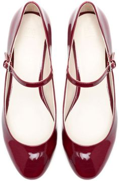 Zara Red Ballerina with Ankle Strap