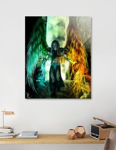 Discover «Azrael - The Archangel of Death», Numbered Edition Acrylic Glass Print by YoanaDESIGN - From $75 - Curioos