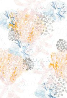 Oceana coral- Claire Carey textile design