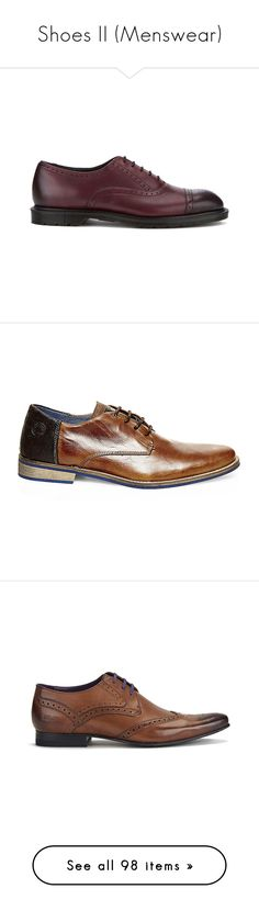 """Shoes II (Menswear)"" by giovanna1995 ❤ liked on Polyvore featuring men's fashion, men's shoes, men's oxfords, burgundy, burgundy mens shoes, mens oxford brogues, mens brogues, mens brogue shoes, men's slip resistant shoes and men's dress shoes"