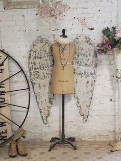 Wings on bodice.