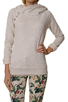 b6ca9986ac42 Maison Scotch Hooded Sweatshirt NOMADE, Color  Cream, Size  L at Amazon  Women s Clothing store