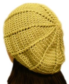 crochet slouchy beanie back