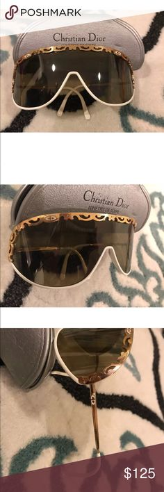6ab96ade812b Christian Dior Vintage sunglasses gold   white These are Authentic  Christian Dior! Full description In