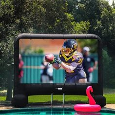 We sure you've ever heard of a portable outdoor projector screen. But have you ever known about an inflatable outdoor . Read moreThe 10 Best Inflatable Outdoor Projector Screens in 2020 Outdoor Projector Screens, Movie Projector Screen, Ecran Projection, Projection Screen, Blow Up Movie, Inflatable Movie Screen, Outdoor Movie Screen, Outdoor Cinema, Giveaway
