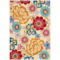 Safavieh Four Seasons Floral Whimsy Indoor/Outdoor Rug