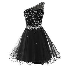 Short One Shoulder Popular Junior Graduation Sweet 16 Cocktail Rhinestone Tulle Homecoming Prom DressesThis homecoming dress could be custom made, there are no extra cost to do custom size and color.Description of homecoming dress1, Material:rhinestone, beads, sequins,tulle2, Color: picture color or other colors, there are 126 colors are available, please contact us for more colors, please ask for fabric swatch by this link: https://www.sposabridal.com/collections/extra-c...