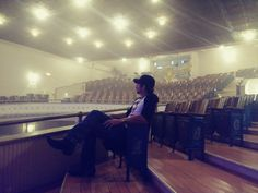 Relaxing before the show in this beautiful venue. Larcom Theater, Beverly, MA