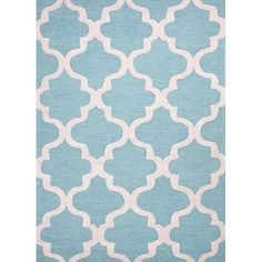City Blue and Ivory Rectangular: 5 Ft. x 8 Ft. Rug