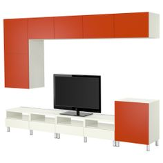 BESTÅ TV storage combination - IKEA 613.00 This tv storage combination will give the living room some color and brighten up the living room area.