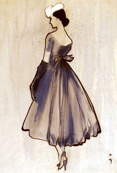 René Gruau | classic feminine fashion