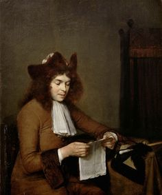 Gerard ter Borch - Een lezend mannetje