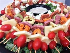 Genius and fairly easy appetizer display. Easy finger food for holiday parties