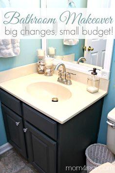 Pretty Bathroom Makeover on a budget!