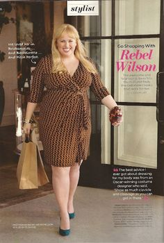 LUCKY MAGAZINE GOES SHOPPING FOR PLUS SIZE CLOTHES WITH BRIDESMAIDS REBEL WILSON   STYLISH CURVES