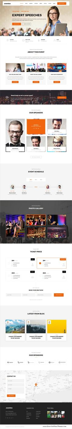 Eventine is clean and modern design 4in1 responsive #bootstrap template for the Conferences, Meetings, #Exhibitions, #Congresses, Events, Event Management website download now..