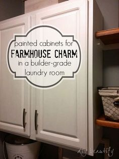 Adding Shelves and Storage to a Builder-Grade Laundry Room DIY beautify