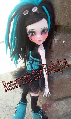 RESERVED for Kodijns  OOAK Cyber Goth Monster High Doll Draculaura repaint on Etsy, $170.00
