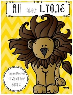 "Enjoy this mini unit on lions.  Your students will enjoy a 12 page mini booklet on these roaring mammals.  There are writing activities, 2 crafts, and lion adaptations included in this packet.  In addition you will find activities to go with the books, ""Honey, Honey, Lion!"" and ""How Leo Learned to Become King""."