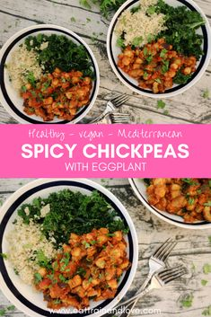 These Mediterranean Spicy Chickpeas are a delicious vegan recipe that adds a punch of protein to any salad or bowl. This dish is so easy to make for a dish that is loaded with plant based protein and fiber. Healthy recipes   vegetarian recipes   vegan recipes   healthy main dishes   healthy side dishes