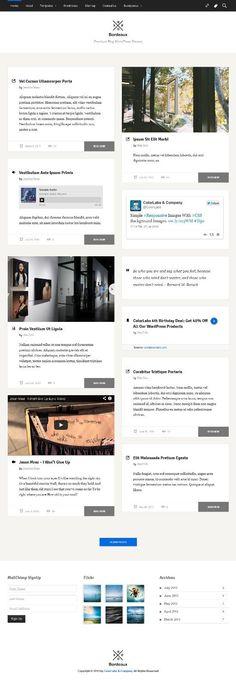 Bordeaux WordPress Theme Review - ColorLabs