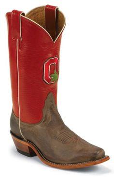 Nocona Ohio State University College Cowgirl Boots - Snip Toe - Sheplers