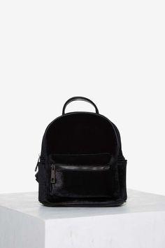 Margot Velvet Mini Backpack - Black | Shop Accessories at Nasty Gal!