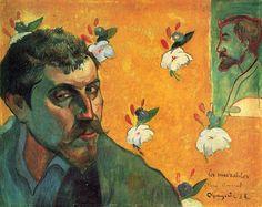 Gauguin self-portrait with portrait of Emile Bernard