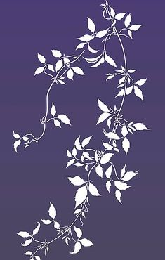 Oversize Trailing Leaves Stencil Clematis Vines