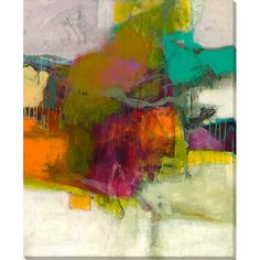 Complete a stylish conversation space in the den or create a bold focal point in the master suite with this abstract canvas print.Pro...