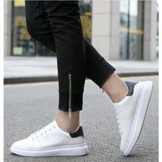 meet 96db7 53d9a Hombre zapatos de estilo casual y cómodo deportivo de color Blanco