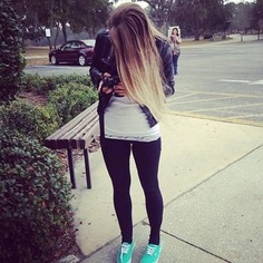 love the pop of color in the shoes. cute outfit and hair!