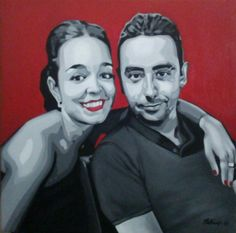 Raquel y Jose. Acrílico sobre lienzo.2016. By mluisanaranjo.