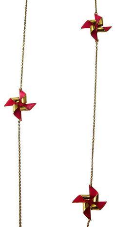 long pinwheel necklace