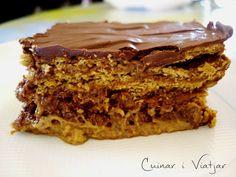 Tarta de chocolate y galletas (no necesita horno)   Cocinar en casa es facilisimo.com
