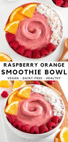 Healthy Smoothie, Vegan Smoothies, Smoothie Bowls Vegan, Smoothies Bowl Recipe, Raspberry Smoothie Bowl, Healthy Vegan Breakfast, Healthy Snacks, Vegan Breakfast Smoothie, Raw Breakfast