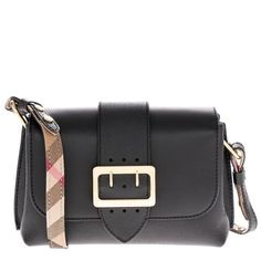 Burberry Women s soft grain Small cross-body Buckle Bag Black 4049610   Burberry  MessengerCrossBody e546493628c8f