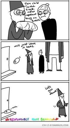 Irresponsible Dumbledore lololol