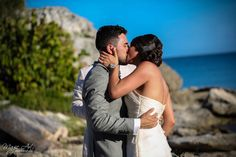 You may kiss the bride!! Zamas Tulum Wedding in Mexico by Magic Art Destination Wedding Studio