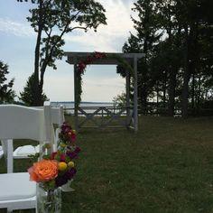 Arbor flowers for wedding ceremony
