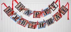 Happy Birthday Cowboy Banner Decoration Western Party Theme. $59.98, via Etsy.
