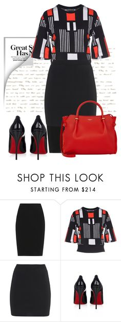 """""""Untitled #363"""" by unagii ❤ liked on Polyvore featuring Lanvin, Alexander McQueen, T By Alexander Wang, Christian Louboutin and Nina Ricci"""