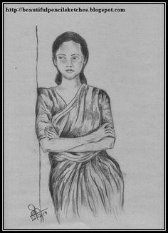 Beautiful pencil sketches: beautiful charcoal pencil sketch of an indian woma beautiful Pencil Sketch Images, Beautiful Pencil Sketches, Pencil Art Drawings, Easy Drawings, Drawing Sketches, Sketching, Sketches Of People, Drawing People, Pencil Shading