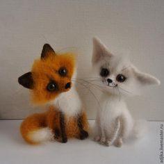 """Купить """"Две лисички взяли спички..."""" - разноцветный, лиса, фенек, лисенок, пустынная лиса"""