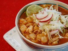 Ancho Chile Pozole - So good used shredded chicken instead of pork. Both were very good