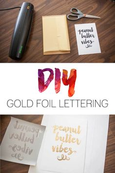 How to diy foil wedding invitations gold weddings and wedding diy gold foil lettering do it yourself gold foiling vinyl lettering solutioingenieria Images