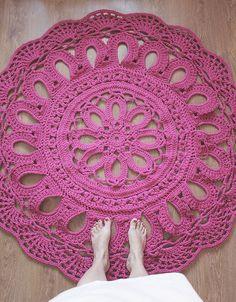Crochet Pattern Pdf tapis au crochet napperon de par dziergalnia